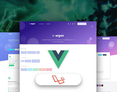 Laravel Vuejs - Argon Design - Full-Stack App, JWT Authentication, Helpers.