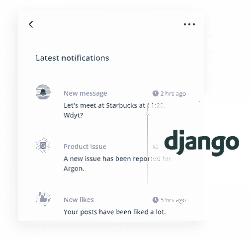 Django Framework - The backend used by Django Argon PRO Web App.
