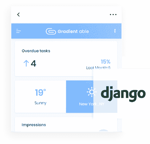 Django Framework - The backend used by Gradient Able PRO Web App.