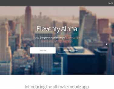 Static Site Eleventy Alpha - Alpha Design.