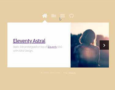 Static Site  Eleventy Astral - Astral Design.