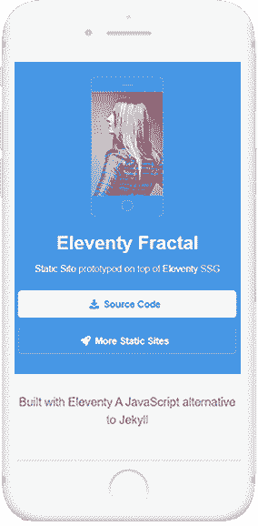 11ty Html5Up Fractal - Mobile view.
