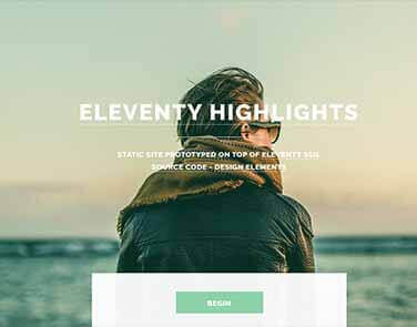 Static Site Eleventy Highlights - Highlights Design.