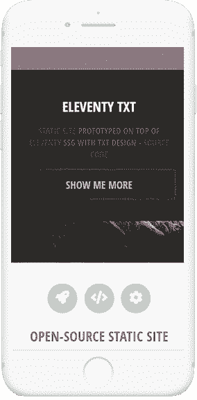 11ty Html5Up TXT - Mobile view.
