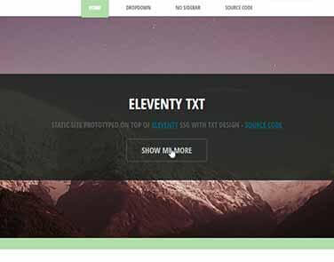 Static Site  Eleventy TXT - TXT Design.