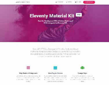 11ty Material Kit PRO - Features: Nunjunks, Webpack, Critical CSS.