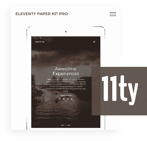 Eleventy Framework - The core used by Eleventy Paper Kit PRO Web App.