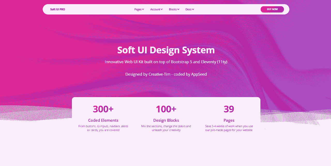Eleventy Soft Design System - Seed project provided by AppSeed.