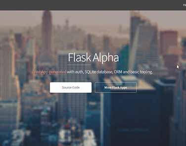 Flask Html5Up Alpha - Features: Database, ORM, Deploy Scripts.
