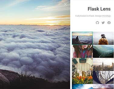 Flask Html5Up Lens - Features: Database, ORM, Deploy Scripts.