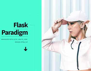 Flask Html5Up Paradigm - Features: Database, ORM, Deploy Scripts.