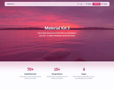 Flask Material Kit - Web App coded in Flask Microframework.