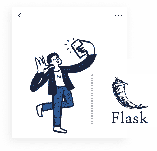 Flask Framework - The backend used by Pixel UI Kit Web App.