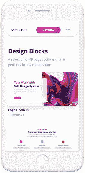 Flask Soft Design System - Mobile view.