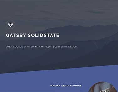 GatsbyJS Solid State - Solid State Design.