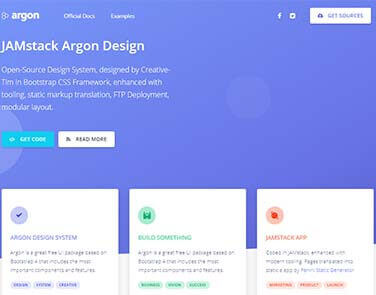 JAMStack Argon Design - Argon Free Design .