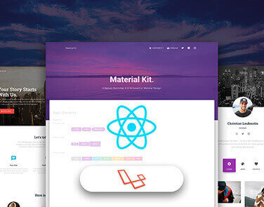 Flask React - Material Design - Full-Stack App, JWT Authentication, Helpers.
